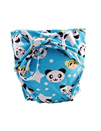 Size Medium, Adjustable Infant Swim Diaper with Ties, [Panda]