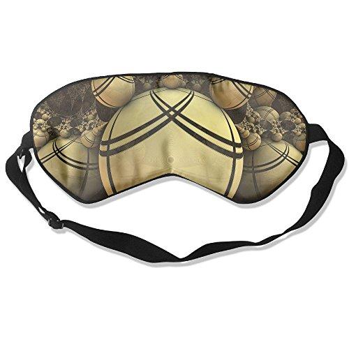Silk Sleeping Mask Eye Orange Balls Lightweight Soft Adjustable Strap Blindfold For Night's Sleep Nap Travel Eyeshade Men And Women -