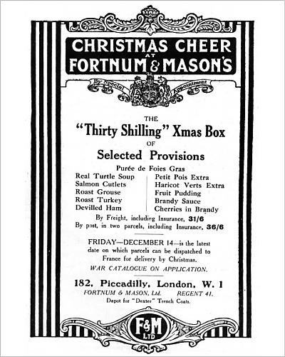 Photographic Print of Fortnum a Mason s Christmas Box for soldiers, WW1 (Christmas Hamper Catalogues)