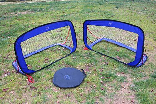 Galileo Pop Up Soccer Goal Portable Soccer Net Soccer Training with Carry Bag for Kids 4 x2.3 ft Set of 2
