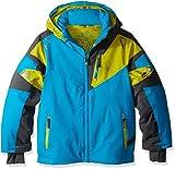 Spyder Boys Leader Jacket, Size 16, Electric Blue/Polar/Sulfur