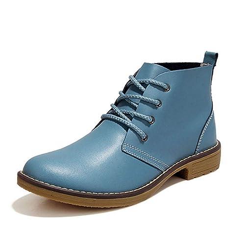 Amazon.com: Botas de tobillo con plataforma de tacón bajo ...