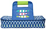 C.R. Gibson Beach House and Nautical Décor Fish Themed Insulated Food and Casserole Dish Carrier, 14' W x 20' L x 3.25' D