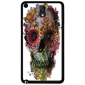 Colorful Floral Skull Hard Snap on Phone Case (Note 3 III)