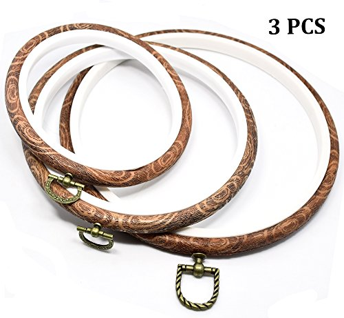 - Embroidery Hoops Cross Stitch Hoop Embroidery Circle Set for Art Craft Handy Sewing 3 Pieces