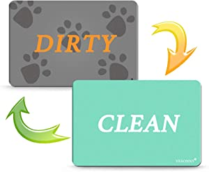 Dishwasher Magnet Clean Dirty Sign, Double Sided Dishwasher Magnet Flip with Strong Magnet and Adhesive Tapes for all Dishwasher, 1 Piece