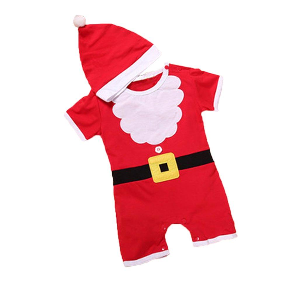 YULAN Traje corto de Navidad para chatarra con sombrero ...