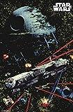 Trends International Star Wars: Saga - Space Battle Wall Poster, 22.375' x 34', Multi