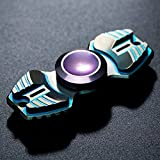 FREELOVE Armed Shark Armor Warrior Fidget Spinner Toy Stress Reducer Premium EDC Disassembly With Premium R188 Ceramic Bearing Helps Focus, Stress, Anxiety, ADHD, Boredom. (Titanium Alloy, Green)