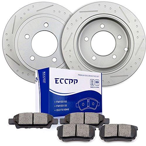 - Brake Rotors Pads Kits,ECCPP 2pcs Rear Discs Brakes Rotors and 4pcs Ceramic Disc Brake Pads Set for Chrysler 200,Chrysler Sebring,Dodge Avenger,Dodge Caliber,Jeep Compass,Mitsubishi Lancer