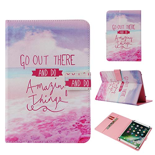 Closure Leather Color Pattern Ultra Inch Purpose General Slot Card Case 10 LMFULM 10 for Love Case PU Heart 35 Foldable Thin Inch Pad Bookstyle Stand for Magnetic of Case Tablet Tf7xX8qz