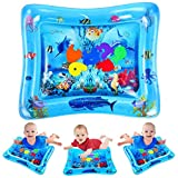 Toys : VATOS Tummy Time Water Mat, Baby Toys for 3 6 9 Months, The Perfect Tummy Time Toy for Infant Early Development Activity Centers| BPA Free Splashing Water Play Mat Promotes Visual Stimulation