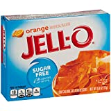 Jell-O Sugar-Free Gelatin Dessert, Orange, 0.6 Ounce
