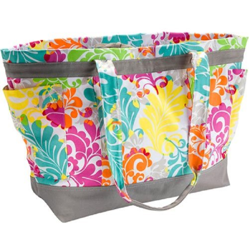 Thirty One Easy Breezy Tote in Island Damask - No Monogram - 4093 (Thirty One Easy Breezy Tote Island Damask)