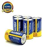 ALLMAX All-Powerful Alkaline Batteries- D (6-Pack), Ultra Long Lasting, Leak-Proof, 1.5V Cell