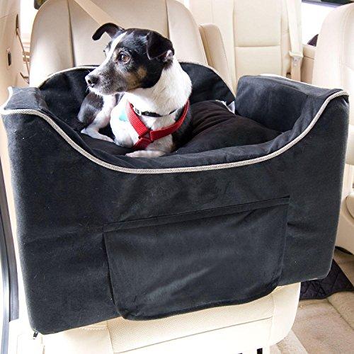 snoozer-luxury-lookout-pet-car-seat-medium-luxury-ii-black-with-herringbone