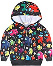 Zip Up Hoodie 3D Printed Outwear Sweatshirt Casual Long Sleeve Design for Boys and Girls