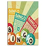 iPrint Door Curtain(Two Panels) Drawings Printing,Vintage Decor,Bingo Game with Ball and Cards Pop Art Stylized Lottery Hobby Celebration Theme,Multi,Well Designed for You,W37.4 xH47.2