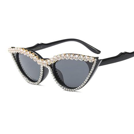 b71143ae491d Z&HA Cat Eye Sunglasses Crystal Embellished Glasses Resin Frame Black Tone  Eyewear,100% UV