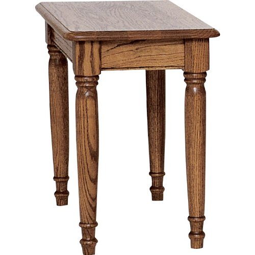 Country Solid Oak Farmhouse Chair Side Table - 15″ x 27″ (Fruitwood)