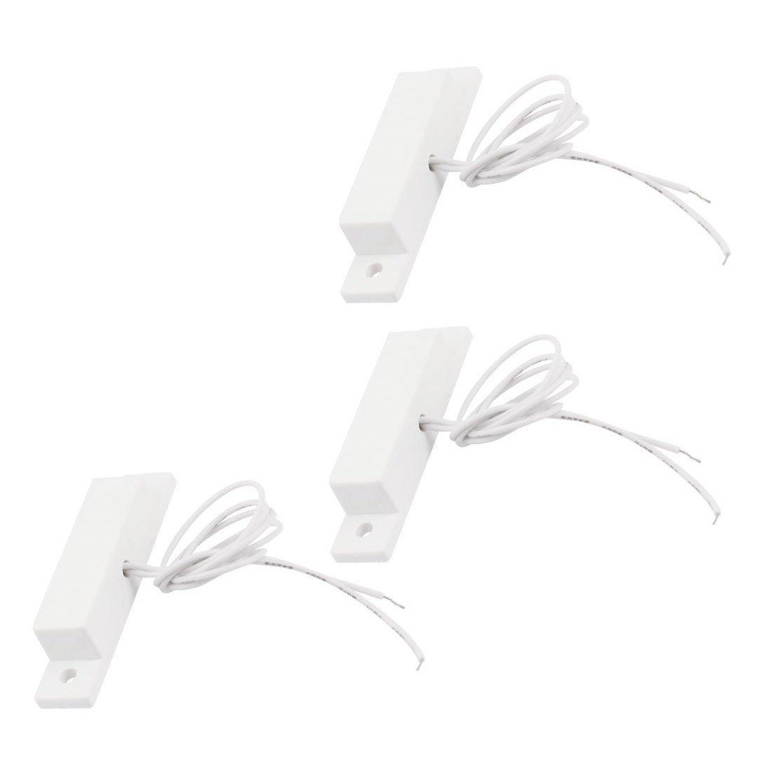 Cikuso 3pcs NO normal offen Verkabelt Sicherheit Alarm Tur Magnetkontakt Reed Schalter
