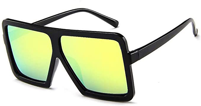 FNKDOR Oversized Vintage Trend Square Sunglasses Classic Gradient Retro Glasses Women