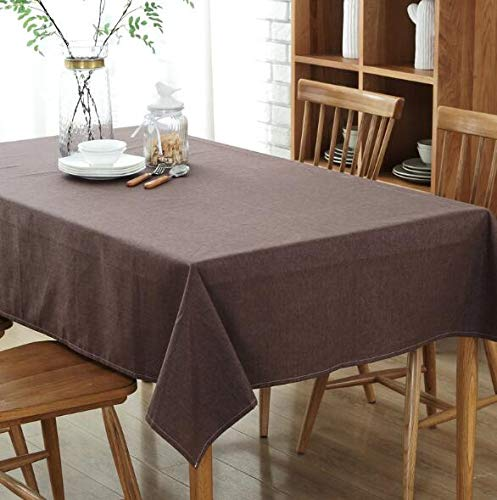 LYJZH Mantel Simple Mesa de Centro de algodón y Lino a Prueba de Agua en casa Hotel Comida paño Mantel café Profundo 130 * 180