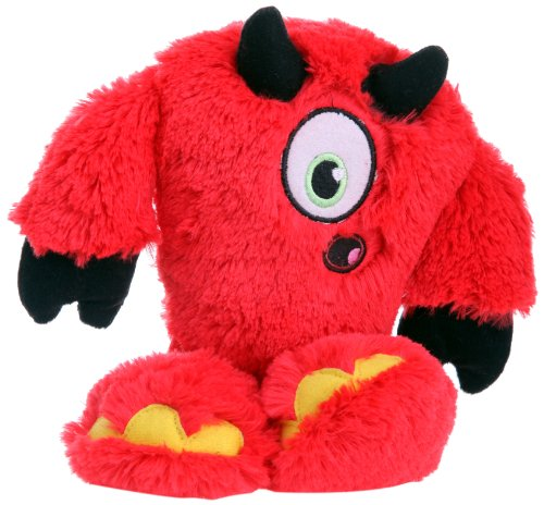 goDog 770930 Yetis Red Devil With Chew Guard Technology Tough Plush Dog Toy, Large