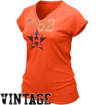 new products e5757 2eaff Nike Houston Astros Ladies Orange Cooperstown Bases Loaded V ...