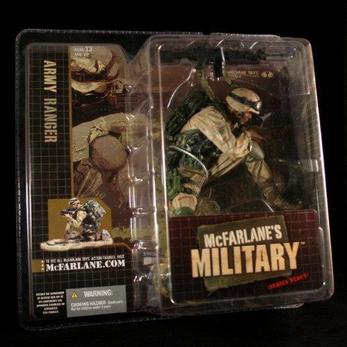 (McFarlanes Military Army Ranger African American Variation Series 1 Action Figure & Display Base)