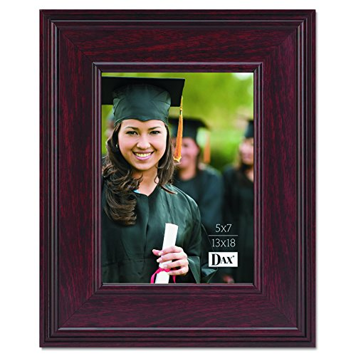 (DAX N15787HT Executive Document/Photo Frame, Desk/Wall Mount, Wood, 5 x 7 Inches,)