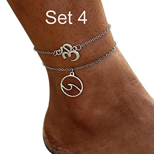 Youcoco Women Casual Fashion Handmade Wax Line Weaving Accessories Anklet Anklets by Youcoco
