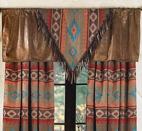 BLACK FOREST DECOR Canyon Shadows Rustic Valance