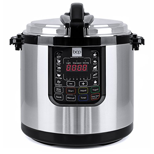Best Choice Products 12-Liter 1000 Watt Stainless Steel Electric Pressure Cooker W/ LED Display Screen 12l Led