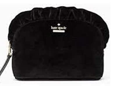 0a958f290662 Image Unavailable. Image not available for. Color  Kate Spade Marcy Dawn  Place Black Velvet Mini Clutch Multi Use Bag