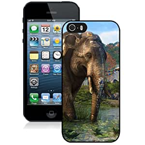 5S case,Far Cry Far Cry Mountain Lake Elephants iPhone 5s cover