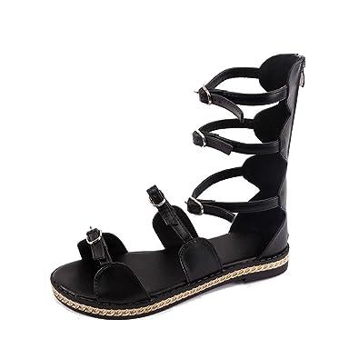 Summer Sandals Inkach Women Summer Hollow Bandage Sandals Beach Gladiator Flat Sandal