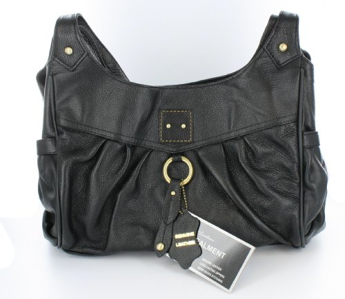 Premium Leather Right or Left Handed Locking Concealment Purse - CCW Concealed Carry Gun Bag by Roma