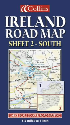 South Of Ireland Map.Ireland Road Map South Sheet 2 9780007160938 Amazon Com Books