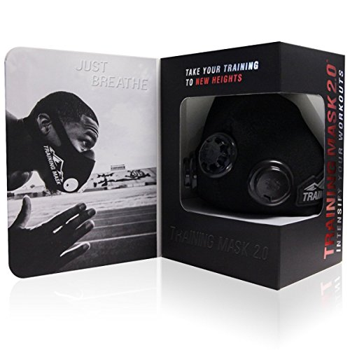 Training Mask 2.0 [Black Out], Elevation Training Mask, Fitness Mask, Workout Mask, Running Mask, Breathing Mask, Resistance Mask, Elevation Mask, Cardio Mask, Endurance Mask For Fitness (Large)