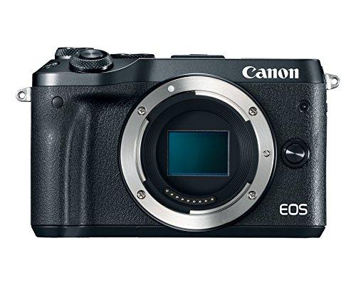 Canon EOS M6 Body (Black) (Renewed)