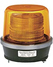 North American Signal DFS900-A Class 2 Double Flash Strobe Light with Permanent Mount, 15.25 Joule, Amber