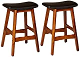 Homelegance 1188BK-24 Bi-Cast Vinyl Counter Height Stool (Set of 2), Black For Sale