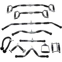 LHXFAN Kabel Machine Attachments, Home Gym Equipment Workout Sport Accessoires, V-Bar, Zitten, Stijgbeugel, Draaibare…