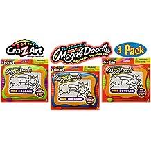 Cra-Z-Art Original Magna Doodle Drawing Toy Mini Doodler Travel Size Gift Set Bundle - 3 Pack