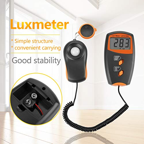 LX1010BS Digital Luxmeter LCD Display Light Meter Environmental Testing Illuminometer without Batterry Included by Fdit (Image #3)