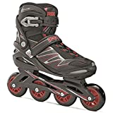 Roces 400812 Men's Model Big ZYX Inline Skate, US 16, Black/Red