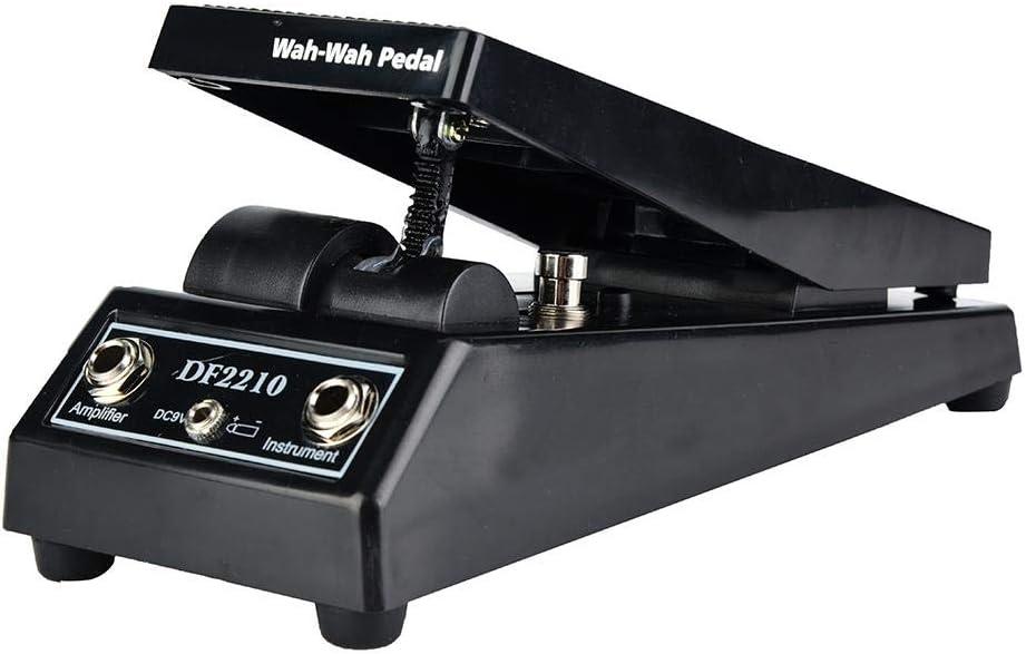 Alomejor Pedal de Volumen Tonos de Guitarra Eléctrica Efecto Wah Pedal para Guitarristas Eléctricos DJ Instrumento Musical