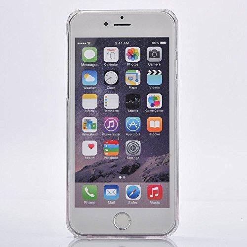 Voguecase® für Apple iPhone 6/6S 4,7 hülle, (Harte Rückseite) Hybrid Hülle Schutzhülle Case Cover (Liebe Treibsand/Lippenstift-Serie/Pink)Flüssig Fließende Sparkly Bling Glitzer Treibsand Quicksand +