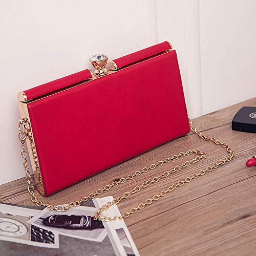 LH unique Shoulder Bag Womens Messenger Handbags Casual Travel Fashion Shopping Banquet Diamond PU Womens Bag Color : Red, Size : One Size